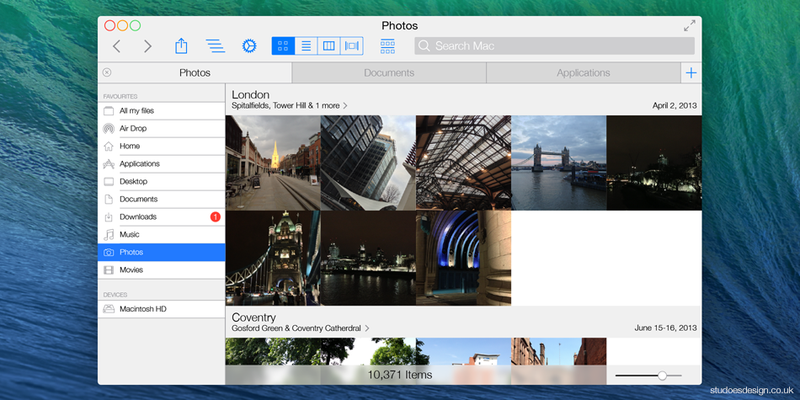 What if OS X Looked Like iOS 7?