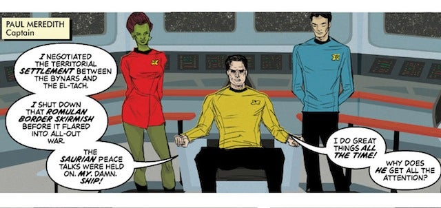 Webcomic Boldly Gone follows an average Starfleet captain with a major case of Kirk-envy