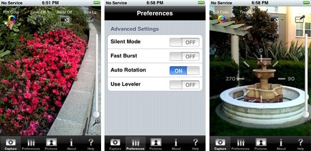 Snapture Improves the iPhone's Camera With Digital Zoom, Burst Shooting and Auto-Rotation