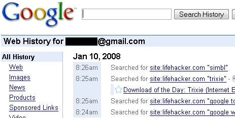 Use Google Web History Without Installing a Toolbar