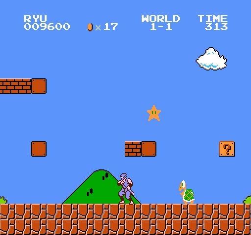 Friendly Reminder: Super Mario Bros. Crossover Now Featuring Ninja Gaiden