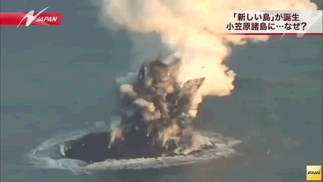 Watch a volcano birth an entire new island