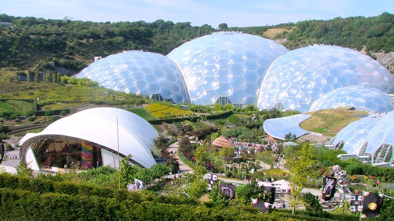A domed city that holds an entire biosphere