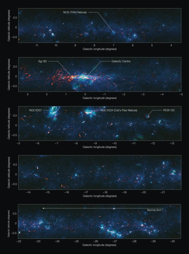New Map Of Our Galactic Disc Reveals Where Future Stars Will Be Born