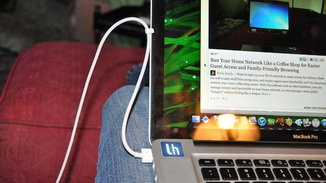 Keep Your Laptop's Power Cord Out of the Way with Its Built-In Wrapping Clip