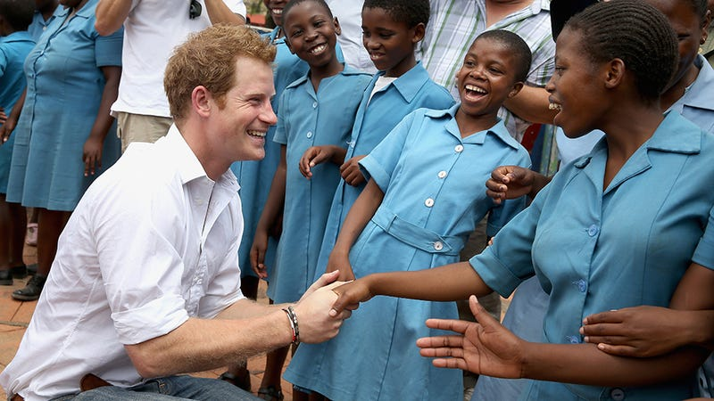 Your Boyfriend Prince Harry Grins His Way Through a Visit to Lesotho