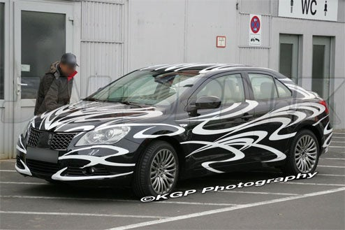 2010 Suzuki Kizashi Spotted Unclad And Ready For 'Ring Time
