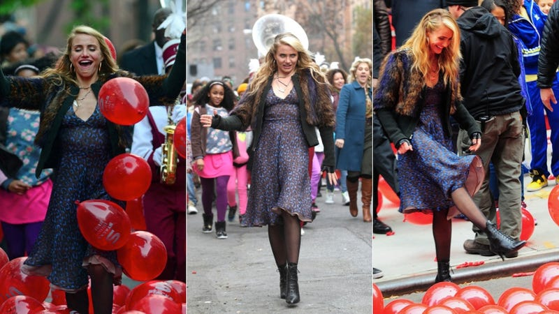 Cameron Diaz Kicks Up Her Heels as Miss Hannigan on the Set of Annie
