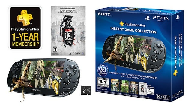 New Vita Bundle Gets You A 3G System, Unit 13, And One Year Of PlayStation Plus For $300