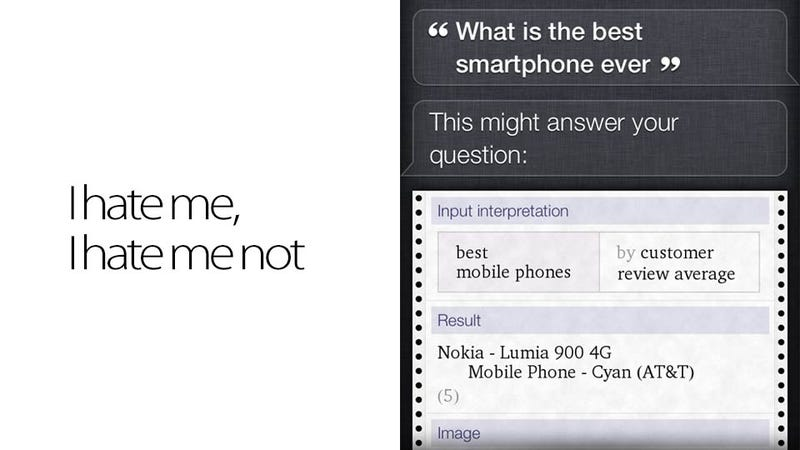 Siri Doesn't Think the iPhone Is the Best Smartphone