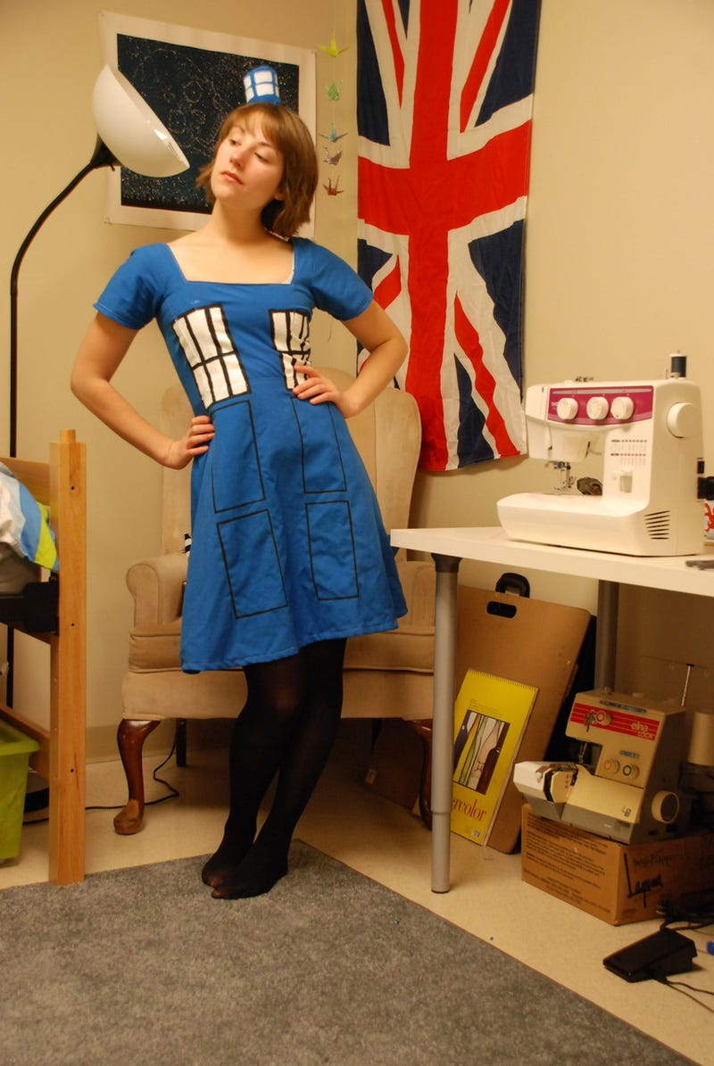 TARDIS dress is the epitome of understated Time Lord elegance