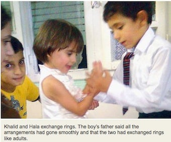5-Year-Old Syrian Boy Proposes To 3-Year-Old Girl