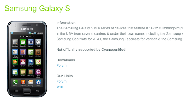 CyanogenMod Adds Easily Scannable Device Pages to Its Site