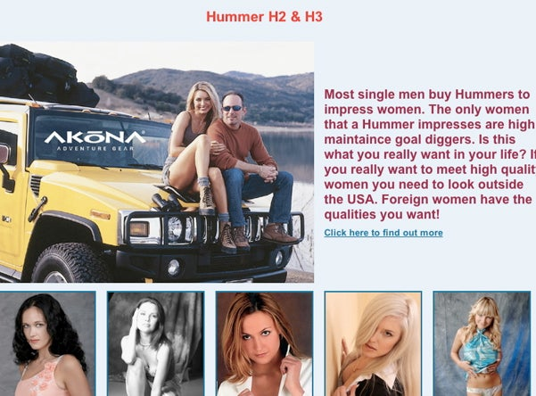 A Hummer Won't Get You The Love, Hummer You Really Want