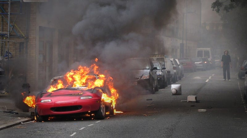 London's burning (and so is this Miata)