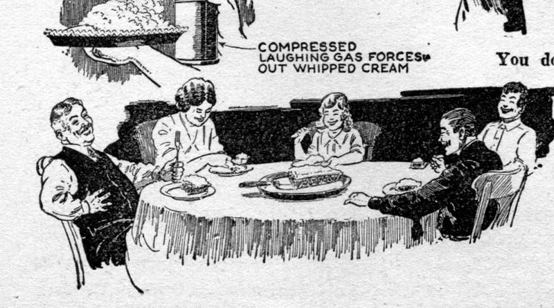 This 1930s Family Is High On Laughing Gas Pie