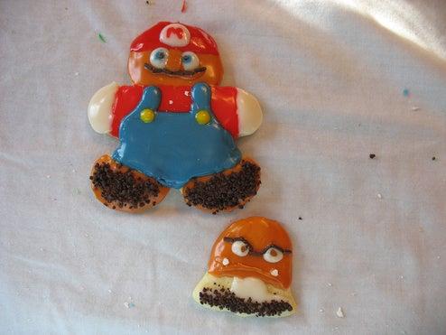 Super Mario Sugar Cookies