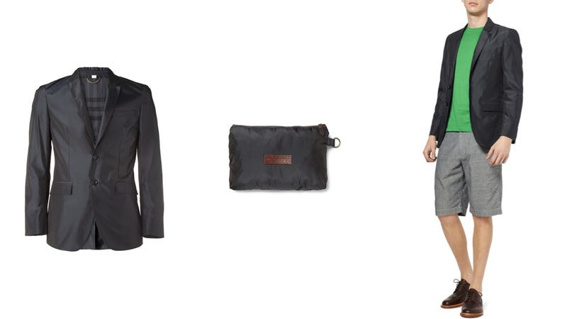 Classy or Not Classy: A $450 Polyester Burberry Blazer That Folds Into Its Own Pouch