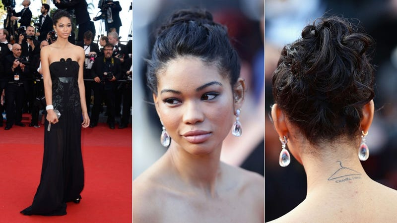 Chanel Iman: Romantic Updo and Epic Earrings