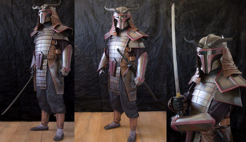 Boba Fett shogun armor is made for chopping your way out of the Sarlacc Pit