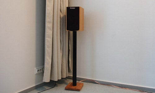 DIY Cable-Organizing IKEA Speaker Stand