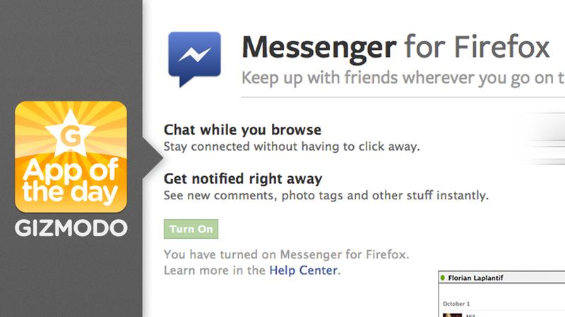 Facebook Messenger for Firefox: Never Miss a Facebook Chat
