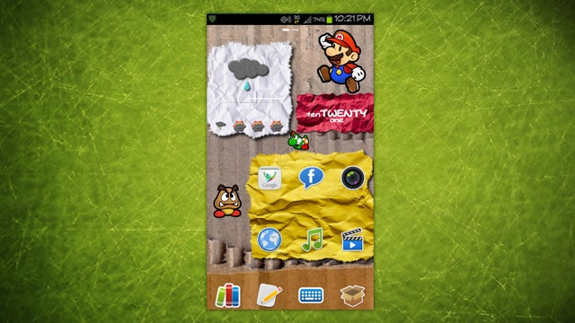 The Paper Mario Home Screen