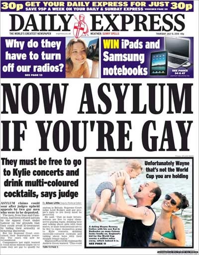 Silly Oppressed Gays Now Have UK Asylum So They Can Go to 'Kylie Concerts' and Drink Flirtinis