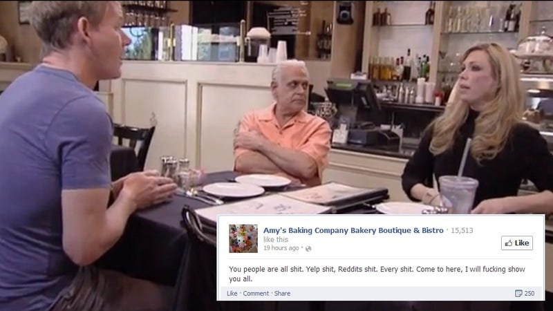 (Update) Nightmare Restaurateurs Who Scared Gordon Ramsay Flip Out on Facebook