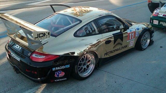 This Porsche racecar's sponsor is a Russian gold-mining company