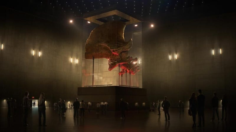 Oh my god we need this giant Kaiju skull from Pacific Rim immediately