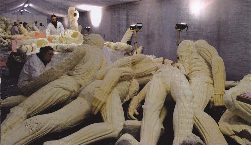 """New behind-the-scenes Prometheus images shine a light on that horrific """"birth"""" scene"""