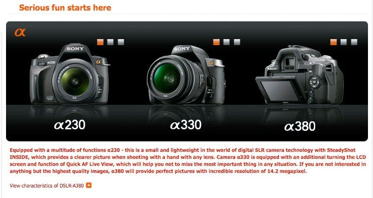 New Entry-Level Sony DSLRs Feature Revamped GUI, HDMI-Out