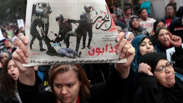 Egyptian Women March Against Violence Government Claims Isn't Really Happening