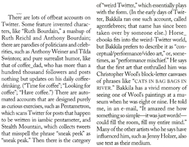 "The New Yorker: ""There Are Lots of Offbeat Accounts on Twitter"""
