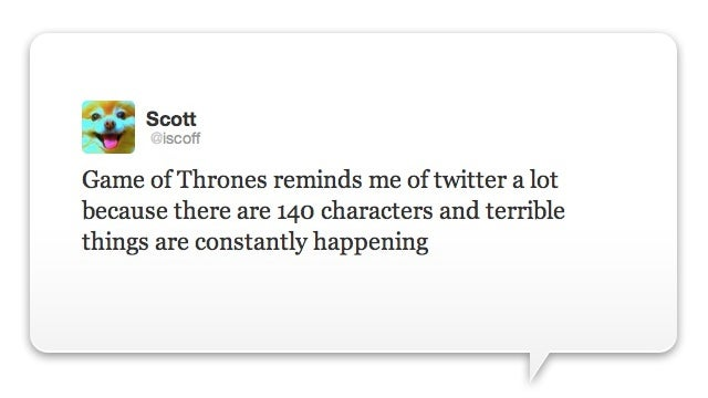 Behold, The Ultimate Game of Thrones Tweet