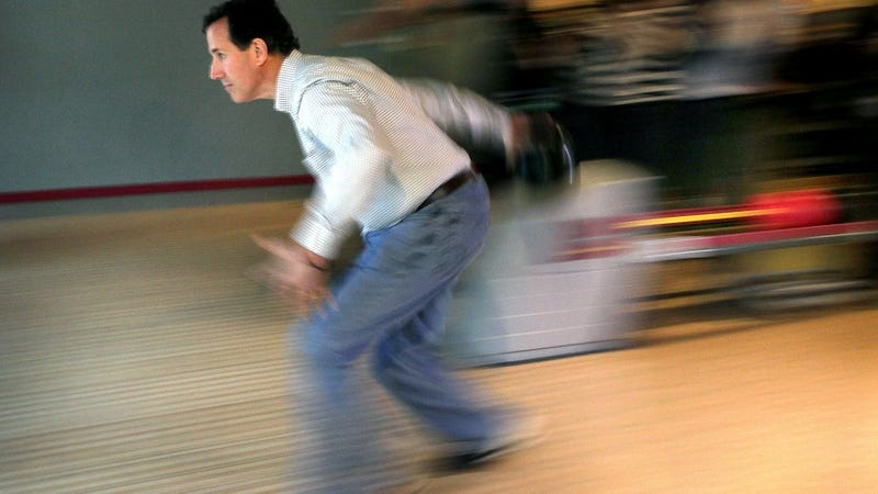 Rick Santorum Gravely Warns Against Dangers of Pink Bowling Ball