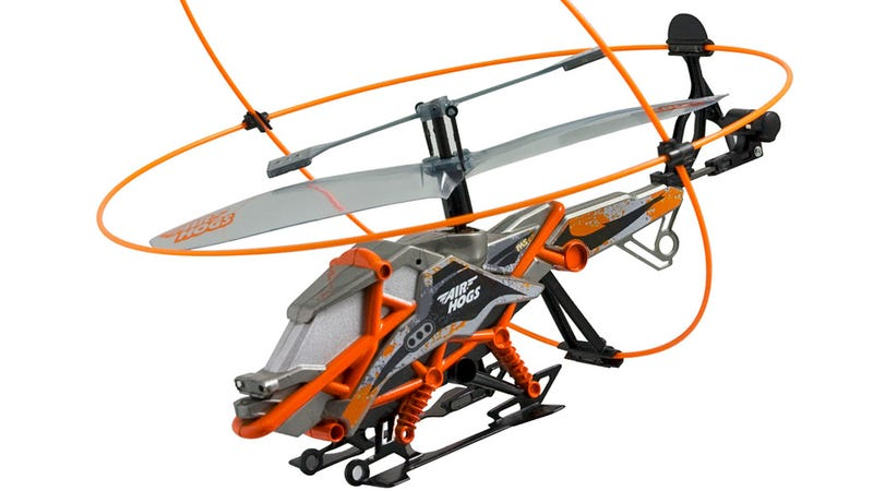 Crash-Safe Toy Heli Always Lands Rotors Up