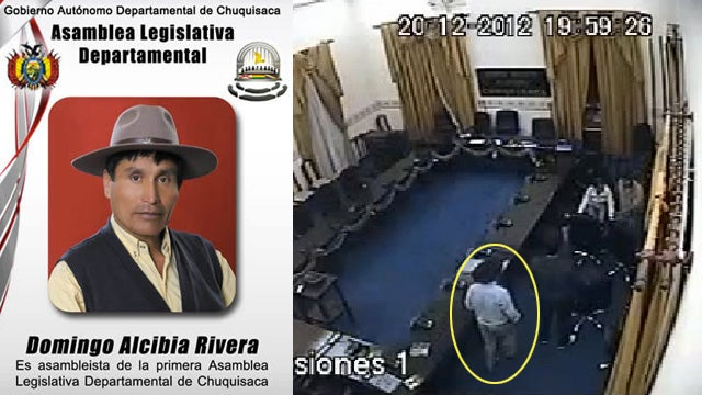 Bolivian State Politician Caught on Video Allegedly Raping Unconscious Woman on Parliament Floor