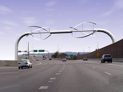 Overhead Highway Turbine Creates Energy, Kills Birds