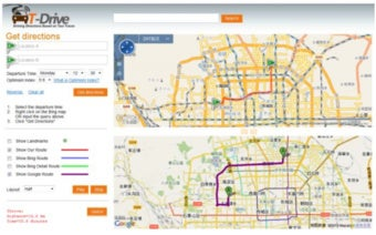 To Improve Online Maps, Microsoft Analyzes GPS Recordings of 30,000 Beijing Cabbies