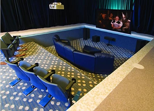 Rich Guy Converts Indoor Pool to Home Theater