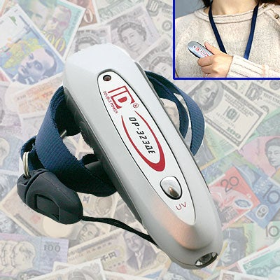 Eletronic Counterfeit Bill Detector Scans for Magnetic Ink