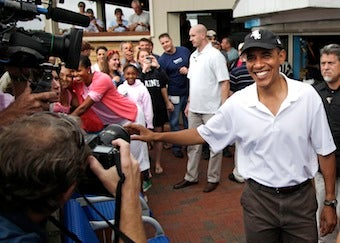 Vacationers Hungry To Meet Obamas, Settle For Cupcakes