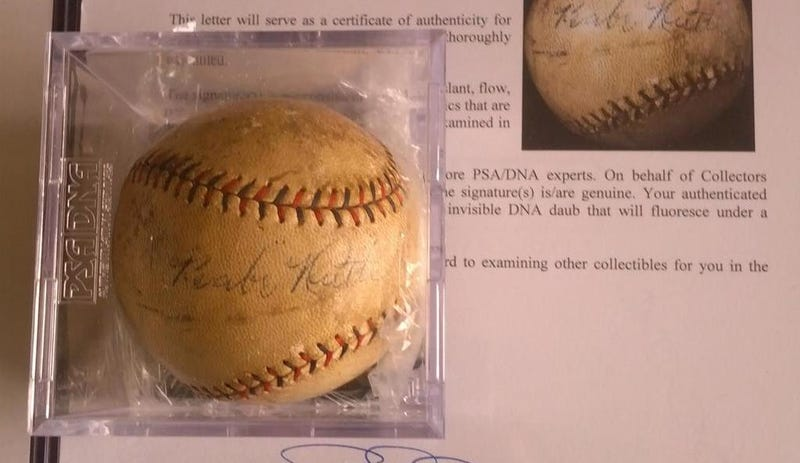 John Lackey Traded A Babe Ruth Autographed Ball For His Uniform Number