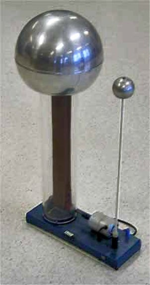 "A Van de Graaff generator can snuff out a candle with ""electric wind"""