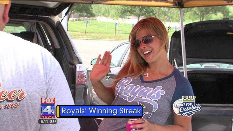 Royals Fountain Lady Had A Hell Of A Night