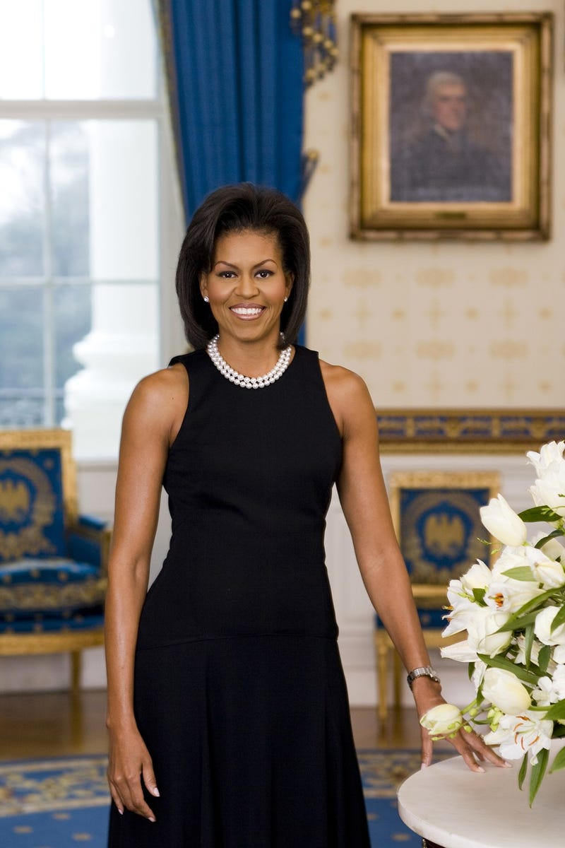 Here's the New Official Portrait of Michelle Obama and Her Bangs