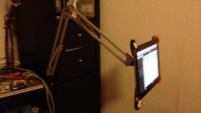 Turn an IKEA Lamp into a Multi-Positional iPad Holder