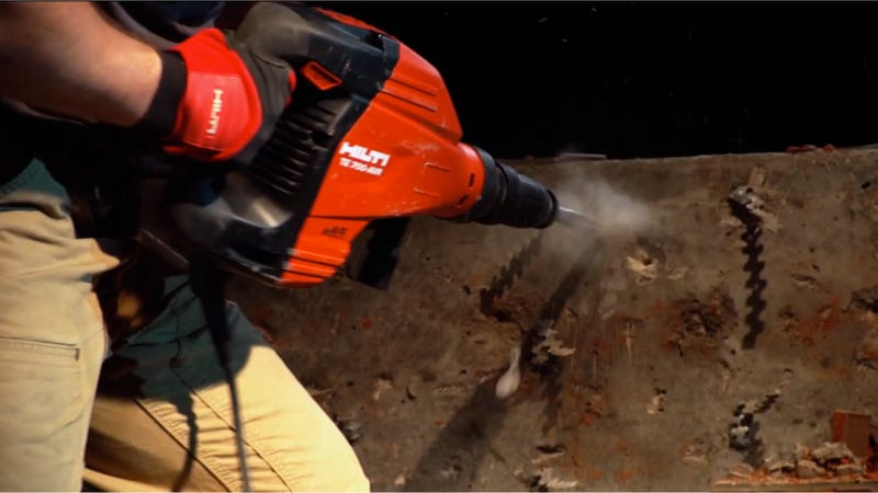 Take Out a Brick Wall With the Handheld Jackhammer the Size of a Baby